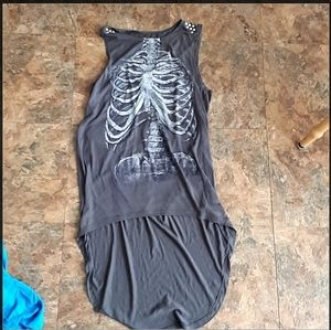 Skeleton high low dress